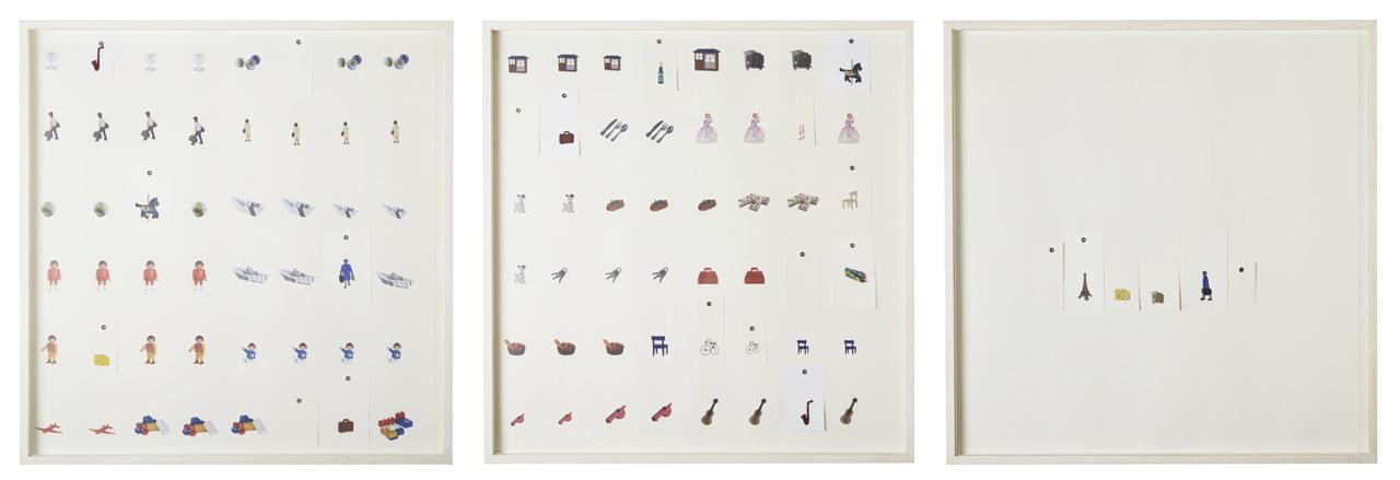 Taxonomías I (tríptico). Impresión digital sobre papel de algodón. 70 x 220 cm. 2011