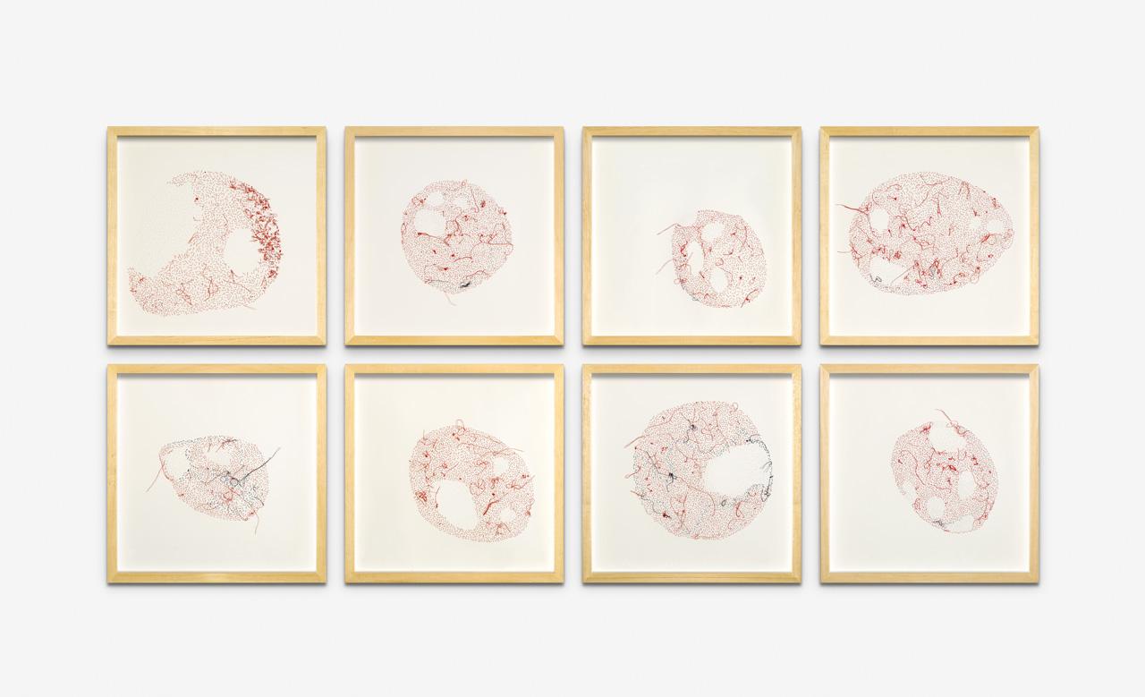 Políptico. I, II, III, IV, V, VI, VII, VIII. 35 x 35 cm c/u