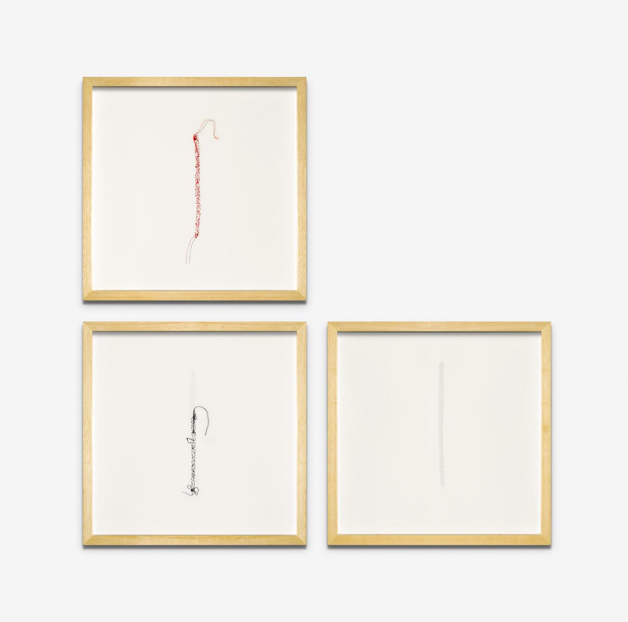 "Tríptico, ""Palabras"", ""Dudas"", ""Silencio"". 35 x 25 cm c/u"